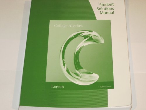 College Algebra Student Study Guide  8th 9780538738385 Front Cover