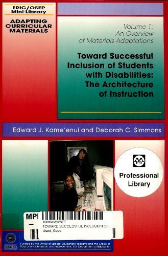 Toward Successful Inclusion of Students with Disabilities : The Architecture of Instruction 1st edition cover