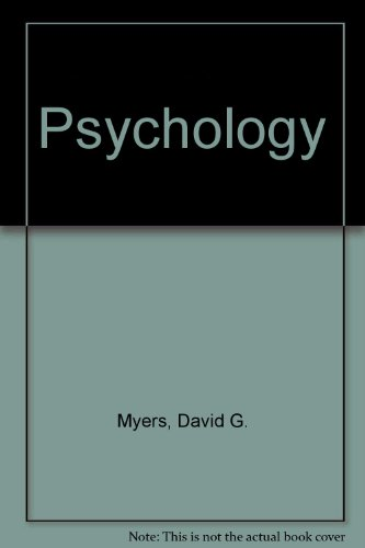 PSYCHOLOGY-TEXT+STUDY GUIDE 5th 1998 edition cover