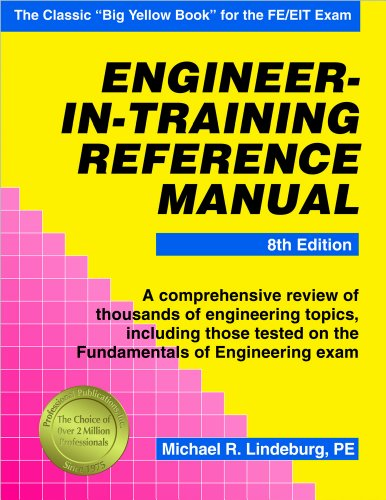 Engineer-In-Training Reference Manual  8th 9781591264385 Front Cover