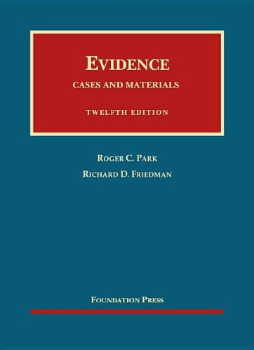 Evidence, Cases and Materials:   2012 edition cover