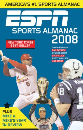 ESPN Sports Almanac 2008 America's Best-Selling Sports Almanac  2007 9781933060385 Front Cover