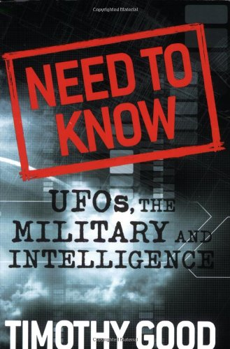 Need to Know UFOs, the Military, and Intelligence N/A 9781933648385 Front Cover