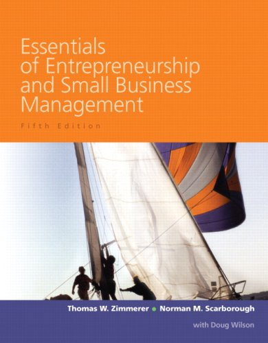 Essentials of Entrepreneurship and Small Business Management  5th 2008 9780132294386 Front Cover