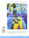 Organizational Behavior  16th 2015 edition cover