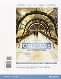 Calculus and Its Applications, Books a la Carte Plus MyMathLab Access Card Package  11th 2016 9780133862386 Front Cover