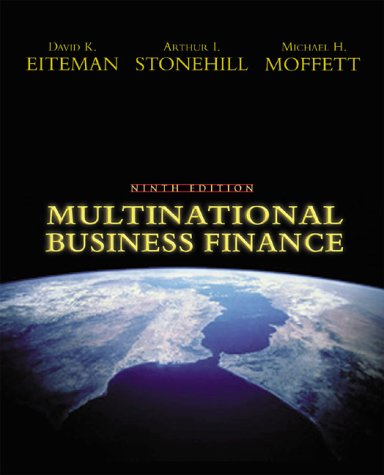 Multinational Business Finance  9th 2001 edition cover