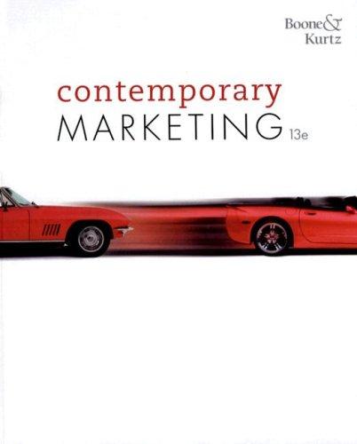 Contemporary Marketing 2009  13th 2008 edition cover