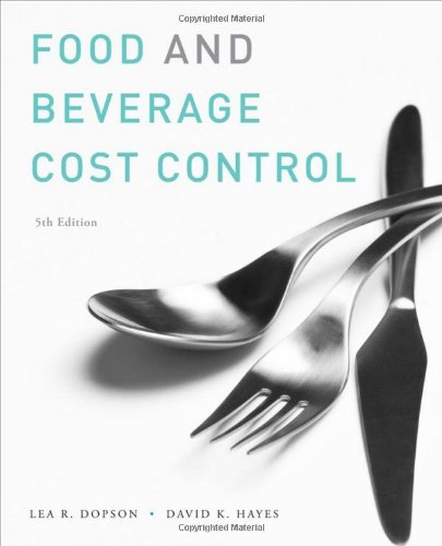 Food and Beverage Cost Control  5th 2011 edition cover