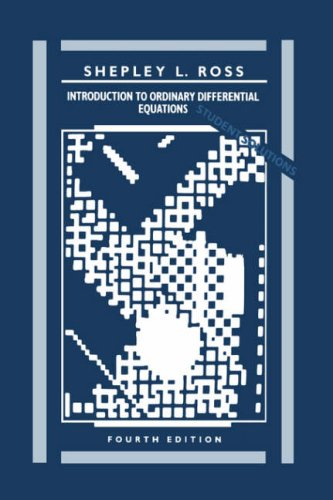 Introduction to Ordinary Differential Equations  4th 1989 edition cover