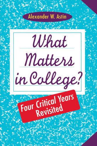 What Matters in College?   1993 (Revised) edition cover