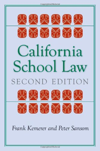 California School Law Second Edition 2nd 2009 edition cover