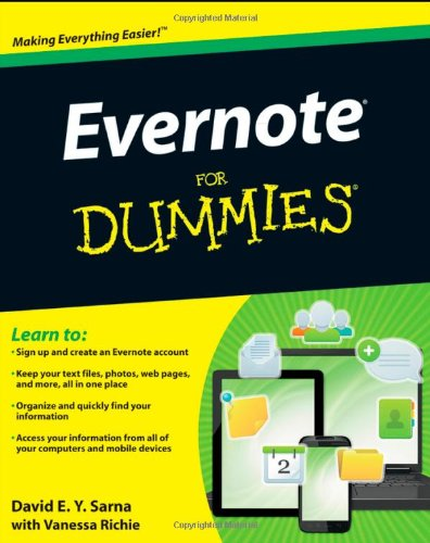 Evernote for Dummies   2012 9781118107386 Front Cover
