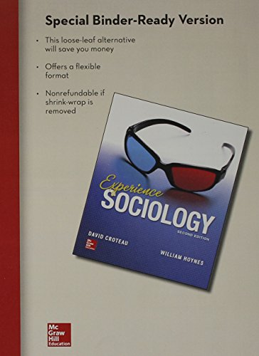 LooseLeaf for Croteau Experience Sociology 2e  2nd 2015 edition cover