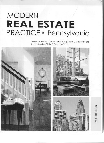 Modern Real Estate Practice in Pennsylvania:   2013 edition cover