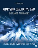 Analyzing Qualitative Data Systematic Approaches 2nd 2017 9781483344386 Front Cover