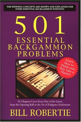 501 Essential Backgammon Problems  2nd 2004 edition cover