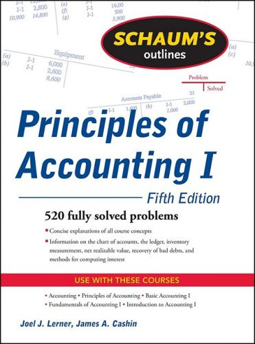 Principles of Accounting I 520 Fully Solved Problems 5th 2010 edition cover