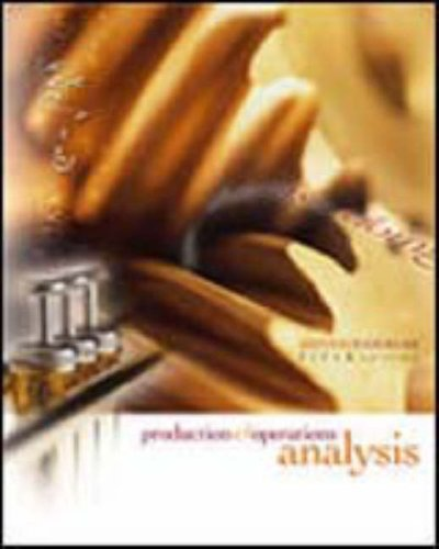 Production and Operations Analysis  5th 2005 edition cover