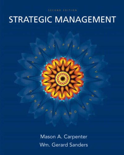 Strategic Management Concepts and Cases 2nd 2009 edition cover