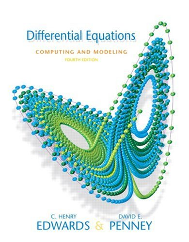 Differential Equations Computing and Modeling  4th 2008 edition cover