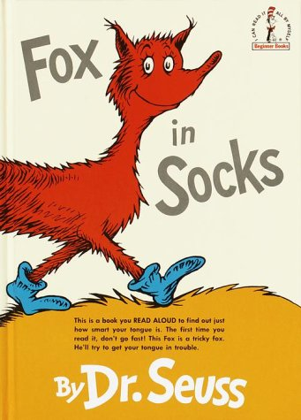 Fox in Socks   1993 (Large Type) 9780394800387 Front Cover