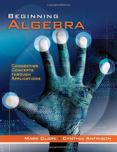 Beginning Algebra Concepts Through Applications  2012 9780534419387 Front Cover