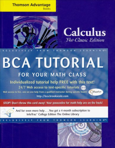 Cengage Advantage Books: Calculus : the Classic Edition The Classic Edition (with Make the Grade and Infotrac) 5th 1991 (Revised) 9780534435387 Front Cover