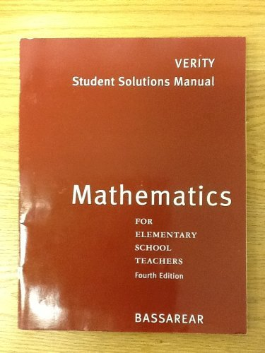 Mathematics for Elementary School Teachers  4th 2008 9780618768387 Front Cover