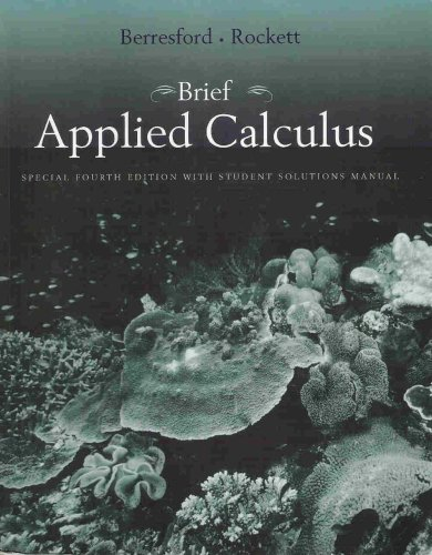BRIEF APPLIED CALC.SPECIAL ED. 4th 2007 9780618771387 Front Cover