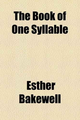 Book of One Syllable  2010 edition cover