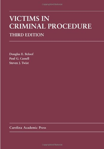 Victims in Criminal Procedure  3rd 2010 edition cover
