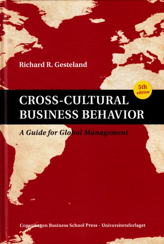 Cross-Cultural Business Behavior A Guide for Global Management (Fifth Edition) 5th 2012 edition cover