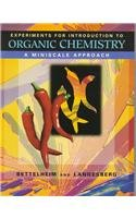 Experiments for Introduction to Organic Chemistry A Miniscale Approach  1997 (Teachers Edition, Instructors Manual, etc.) 9780030192388 Front Cover