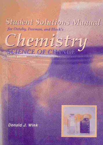 Chemistry Science of Change 4th 2003 9780030332388 Front Cover