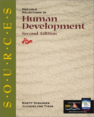 Sources Notable Selections in Human Development 2nd 2001 (Revised) 9780072404388 Front Cover