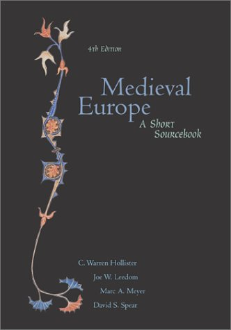 Medieval Europe A Short Sourcebook 4th 2002 (Revised) edition cover
