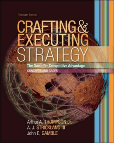 Crafting and Executing Strategy with OLC access Card  15th 2007 (Revised) 9780073270388 Front Cover