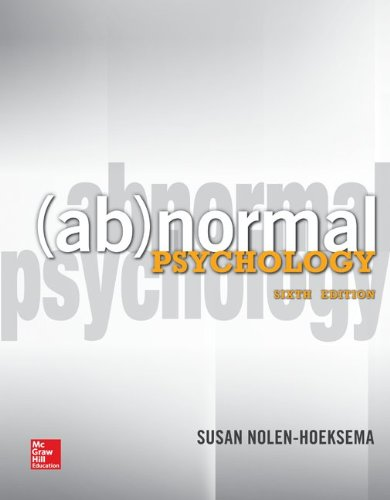 Abnormal Psychology  6th 2014 9780078035388 Front Cover
