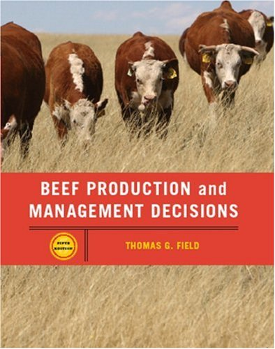 Beef Production Management and Decisions  5th 2007 (Revised) edition cover