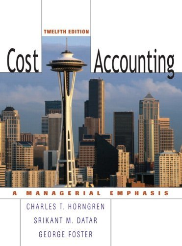 Cost Accounting  12th 2006 (Revised) edition cover