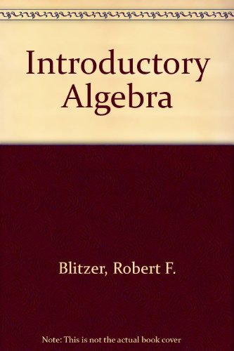 Introductory Algebra  4th 2006 9780131549388 Front Cover