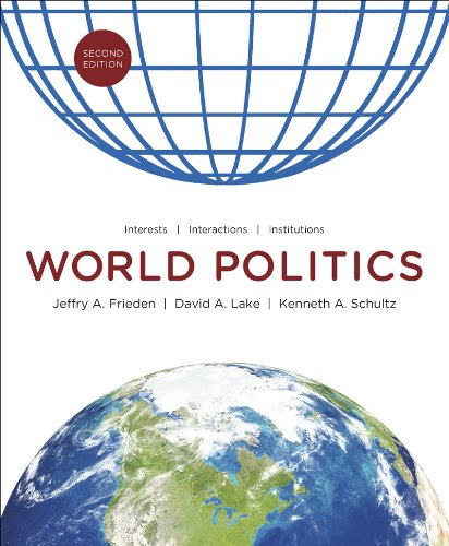 World Politics Interests, Interactions, Institutions 2nd 2013 edition cover