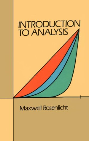 Introduction to Analysis   1986 (Reprint) edition cover