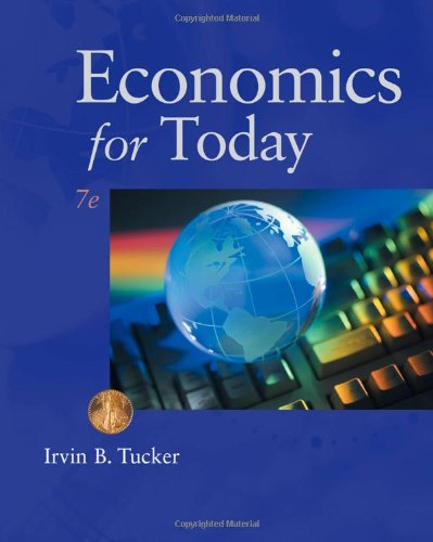 Economics for Today  7th 2011 9780538469388 Front Cover