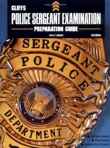 CliffsTestPrep Police Sergeant Examination Preparation Guide  2nd 1999 (Revised) edition cover