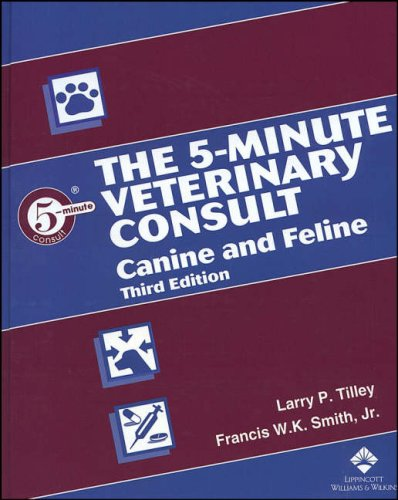 5-Minute Veterinary Consult Canine and Feline 3rd 2005 (Revised) edition cover