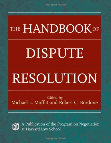 Handbook of Dispute Resolution   2005 9780787975388 Front Cover