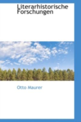Literarhistorische Forschungen  N/A edition cover