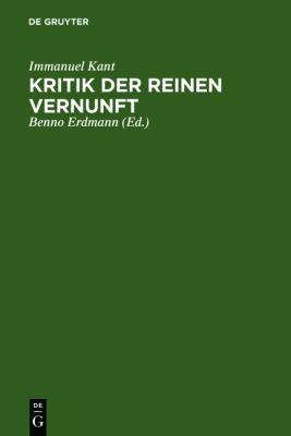 Kritik Der Reinen Vernunft: [Hauptband]  2010 edition cover